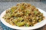 Bulgur med broccoli og cashewnødder