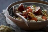 Cassoulet med hvide bønner og rodfrugter