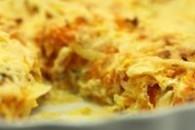 Grøntsagstærte med æggemasse