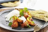 Indisk kylling med Naanbrød