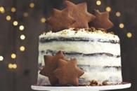 Julelagkage med brunkager og frosting